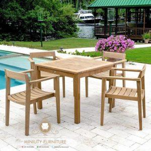 cofe table outdoor kayu jati terbaru jepara