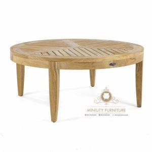coffe table simple minimalis teak wood