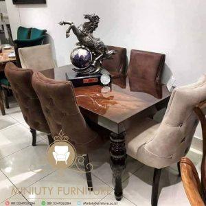 furniture meja makan klasik model terbaru