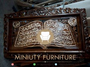 kaligrafi ukir arab kayu jati