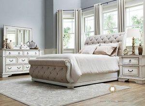 kamar set minimalis modern duco putih terbaru