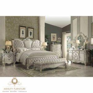 kamar set ukir mewah duco putih modern