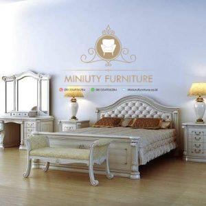 kamar tidur set duco putih minimalis model terbaru