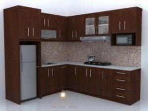 kitchen set minimalis kayu jati