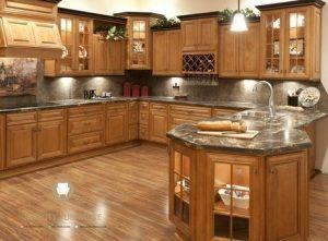 kitchen set minimalis klasik kayu jati terbaru