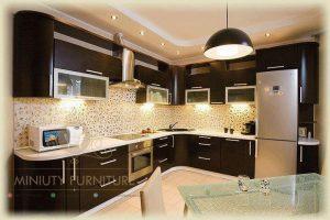 kitchen set minimalis lengkung