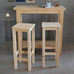 kursi cafe minimalis murah kayu jati belanda