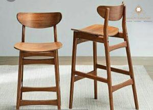 kursi cafe model tinggi kayu jati terbaru