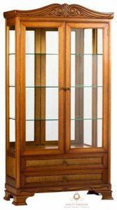 lemari pajangan rak buku kayu jati