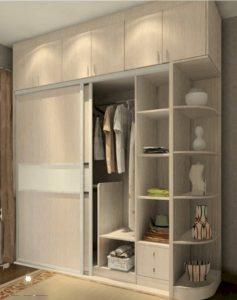 lemari pakaian mewah modern multiplek jepara