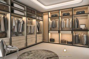 lemari pakaian minimalis modern