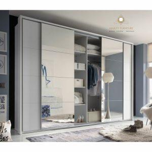 lemari pakaian pintu sleding minimalis modern