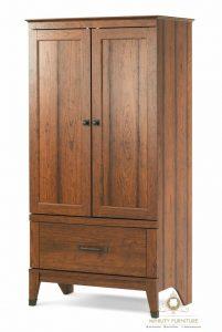 lemari pakaian simple kayu jati