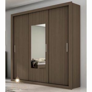 lemari pakaian sleding 3 pintu minimalis modern