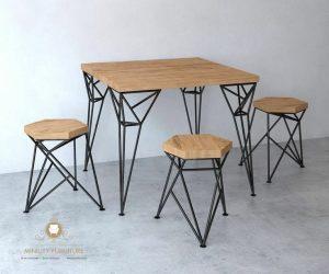 meja makan cafe kaki besi terbaru