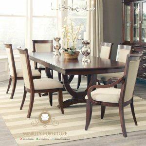 meja makan classic kayu jati terbaru jepara