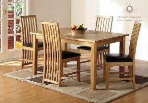 meja makan simple minimalis kursi 4 kayu jati jepara