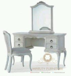 meja rias minimalis duco putih