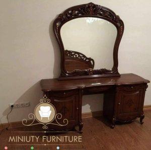 meja rias murah ukir kayu jati