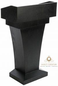 model podium kenegaraan simple kayu jati