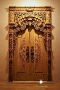 pintu gebyok kayu jati jepara
