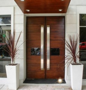 pintu rumah minimalis modern kayu jati