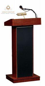 podium kenegaraan simple kayu jati