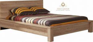 ranjang minimalis blok kayu jati