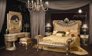 set kamar tidur mewah elegant italian style