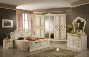 set kamar tidur mewah klasik modern duco putih