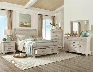 set kamar tidur minimalis finishing antik