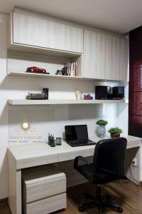 set meja kerja minimalis multiplek