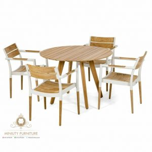 set meja makan cafe, restoran modern model terbaru