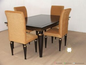 set meja makan minimalis 4 kursi modern