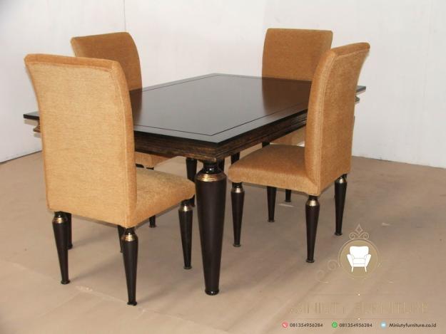 Set Meja Makan Minimalis 4 Kursi Modern Miniuty Furniture