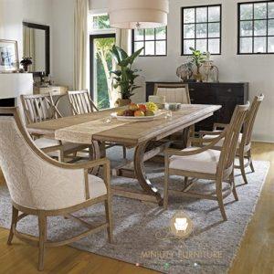 set meja makan minimalis modern italia