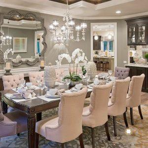 set meja makan panjang modern