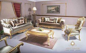 sofa tamu mewah elegant italia style terbaru