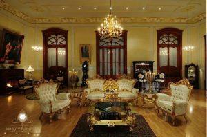 sofa tamu mewah ukir victoria modern terbaru