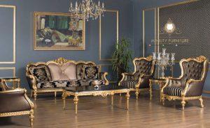 sofa tamu mewah ukir victorian style modern