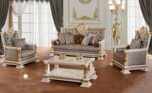 sofa tamu minimalis modern duco putih