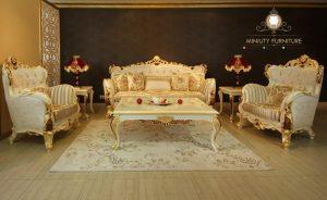sofa tamu ukir mewah elegant terbaru