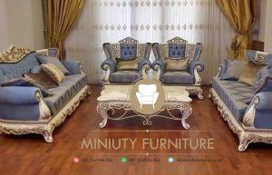 sofa tamu ungu ukir kayu jati jepara terbaru