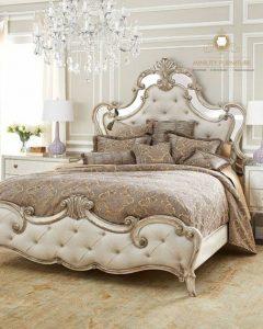 tempat tidur ukir modern