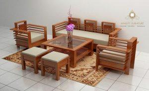 kursi tamu minimalis modern kayu jepara