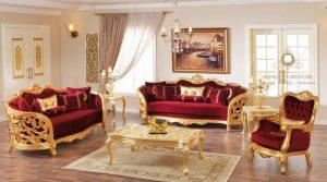 model sofa tamu mewah victorian style