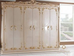 almari pakaian modern duco putih terbaru