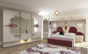 kamar set mewah model raja duco putih