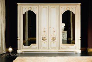 lemari pakaian 6 pintu duco putih