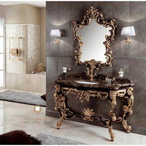 meja cermin wastafel mewah modern